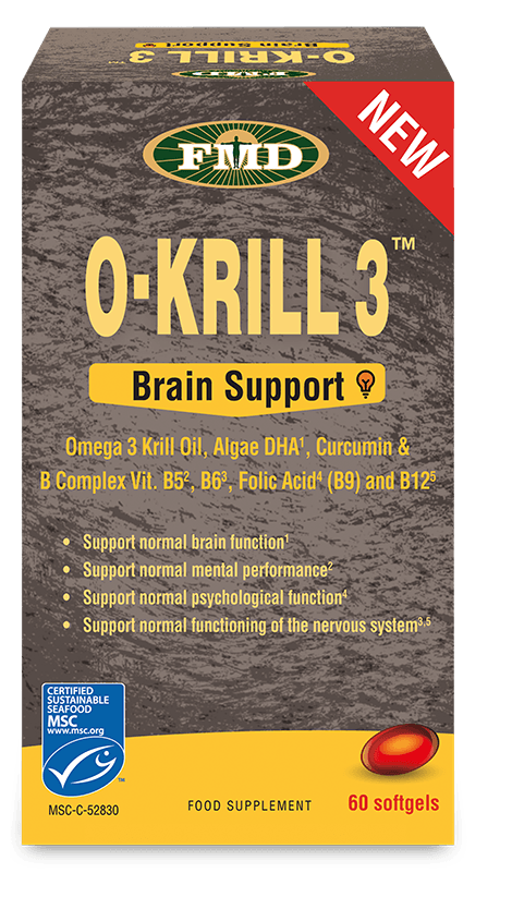 O-KRILL 3 (BRAIN SUPPORT) 850MG 60CAPS