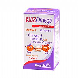 KIDZ OMEGA CHEW.ORANGE 60CAPS